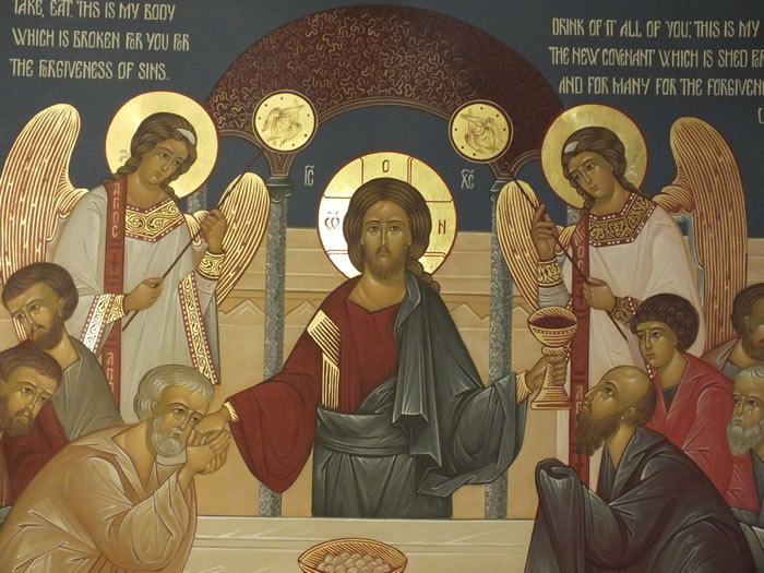 Communion of the Apostles (detail 1)