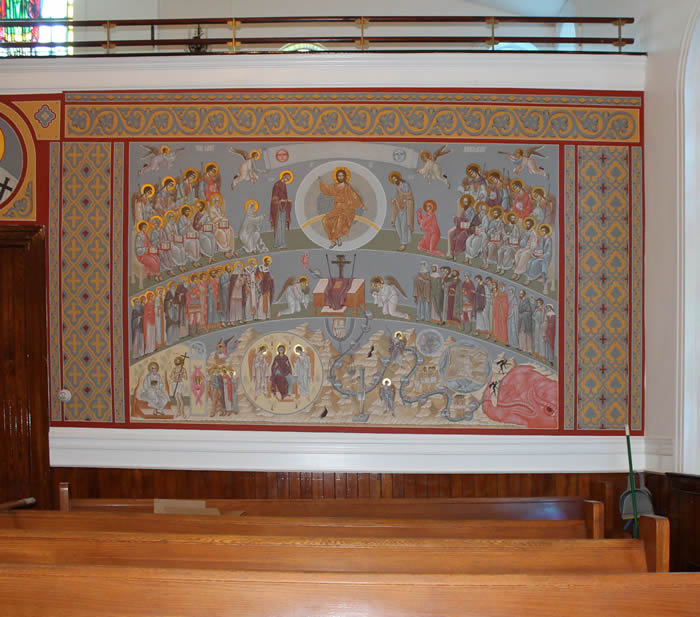 Wall painting The Last Judgement